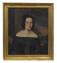 Oil Portrait of Young Lady in Black