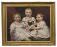 James Ramsey 1806 Oil Painting of Three Sisters