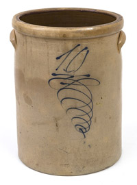 Ten Gallon Stoneware Crock with Beehive