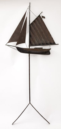 Copper Weather Vane Sail Boat