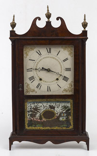 Ephram Downes Pillar & Scroll Clock