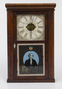 Silas B. Terry Half Column Clock