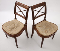Pair Sheraton Side Chairs