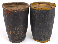 Two Early Leather Fire Buckets