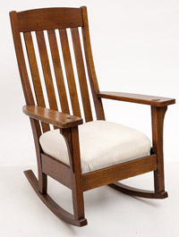 Large Wavy-Back Arm Rocker
