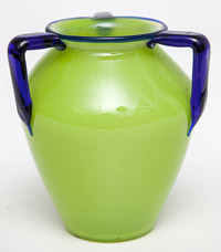 Czechoslovakian Art Glass Vase