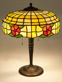 Lam Brothers Leaded Glass Table Lamp