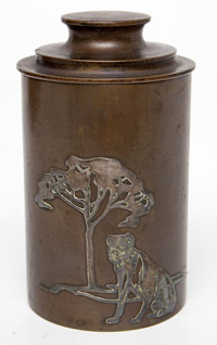 Hientz Silver Overlay Canister