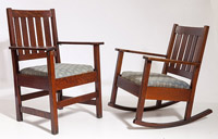 Stickley Brothers Armchair and Rocker
