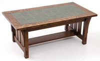 Warren Hile Tile Top Arts & Crafts Coffee Table