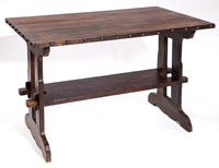 Contemporary Arts & Crafts Trestle Table