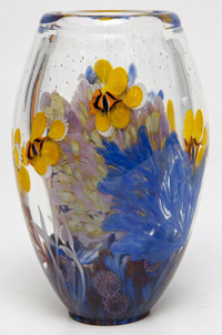 Steven Lundberg Paperweight Art Glass Vase