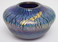 R. Eicholt Art Glass Vase