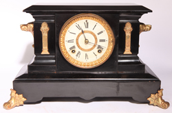 ANSONIA COMPTON IRON MANTLE CLOCK