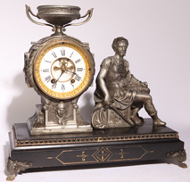 NEW HAVEN BRENNUS FIGURAL CLOCK