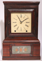 WM. S. JOHNSON GOTHIC MANTLE CLOCK