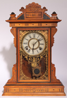 FINE WATERBURY? OAK KITCHEN CLOCK