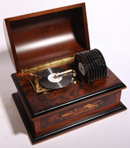 "REUGE 4 1/2"" DISC MUSIC BOX"