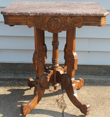 CARVED MARBLE TOP TABLE