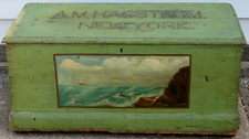 SEA CHEST W/GREEN PAINT