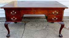 GREAT MAHOGANY PARTNER'S DESK