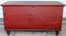 BLANKET CHEST W/OLD RED PAINT