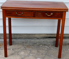 PERIOD CHIPPENDALE CARD TABLE