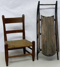 CHILD'S CHAIR & SLED
