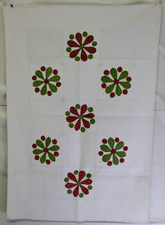 EARLY CRIB APPLIQUE QUILT