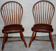 WINDSOR CHAIRS WITH RED WASH