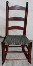 SHAKER STYLE ROCKER W/OLD PAINT