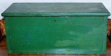 BOX W/OLD GREEN PAINT