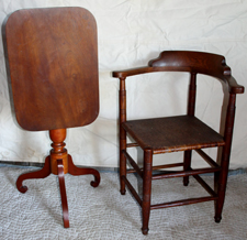 TILT TOP TABLE & CORNER CHAIR