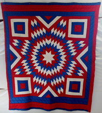 RED, WHITE & BLUE STAR QUILT