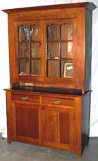 CHERRY 2 PIECE STEP BACK CUPBOARD