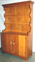 EARLY PINE STEP BACK CUPBOARD