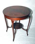 MAHOGANY INLAID LAMP TABLE