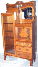 OAK BOOKCASE SECRETARY
