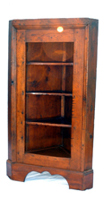 PRIMITIVE OPEN CORNER CUPBOARD