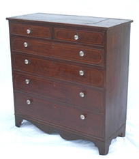 CHERRY INLAID HEPPLEWHITE CHEST