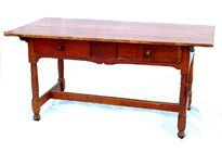 EARLY ORIGINAL STRETCHER BASE WORK TABLE