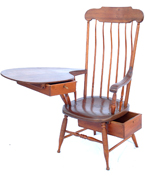 EARLY ORIGINAL WRITING ARM CHAIR