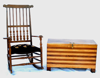 SHAKER ROCKER & TENNESSEE BLANKET CHEST