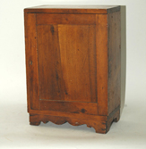 EARLY DOVETAILED 1 DOOR HANGING CUPBOARD