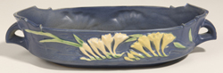 Roseville Freesia #468 Blue Console Bowl
