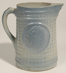 Blue and White Stoneware Indian Pitcher