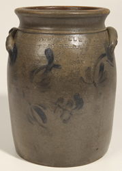 A. Russell, Beaver, PA Decorated Stoneware Jar