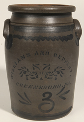 Wiliams & Reppert, Greensboro, PA Stonware Jar