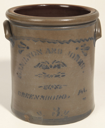 Hamilton & Jones, Greensboro, PA Stoneware Jar