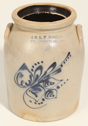 Norton Bennington, VT Decorated Stoneware Jar